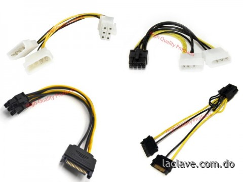 Cable SATA To Pciexpress 6 and 8 Pin Video Card