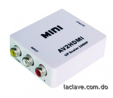 Convertidor ADAPTADOR HdmiRca AUDIO VIDEO