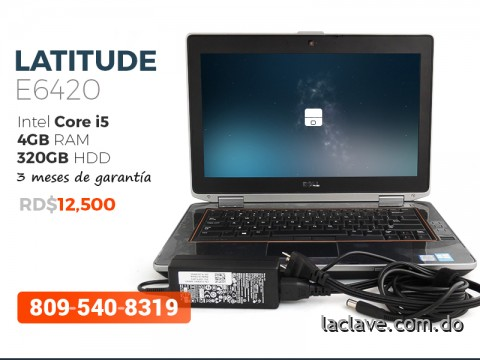 Dell Latitude E6420 Core i5 4GB RAM precio insuperable