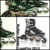 Patines Rollerblade Crossfire Modelo 2013 Sz 105 Hombres Gomas 90mm ABEC 9 RD7500