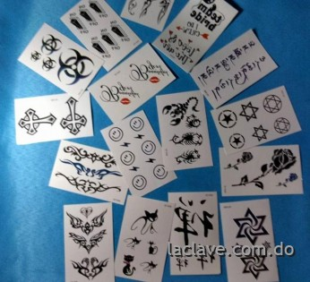 Tatuajes Temporales Pequenos Rep Dominicana