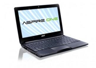 Acer Aspire One 101 160GB mini laptop barata