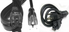 Cable de 3 entradas para fuente de laptop