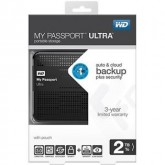 Disco duro 2TB externo portatil WD My Passport Ultra Black