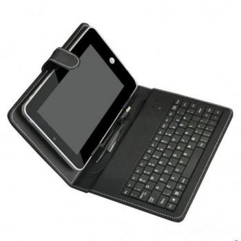 Estuche en piel con teclado integrado para tablet epad apad