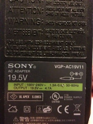 Fuente de laptop Sony Vaio 195V 47A