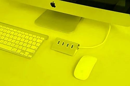 Hub De 4 Puertos Usb 30 Para iMac O Pc Plateado