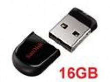 La mas pequena memoria USB de 16gb Sandisk Cruzer Fit SD