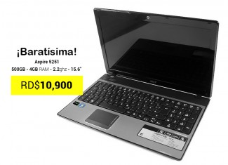 Laptop Acer Aspire 5251 500GB 4GB RAM 156
