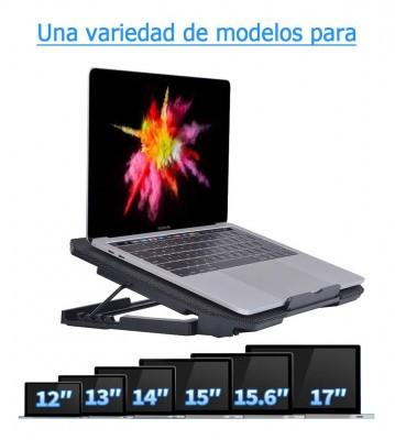 Soporte Con 4 Posiciones Y 2 Ventiladores Para Laptop