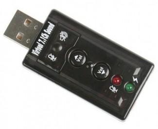 Tarjeta de Sonido USB 3D 71 virtual