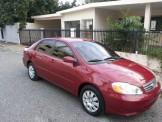Toyota Corolla 2003 rojo vino el mas