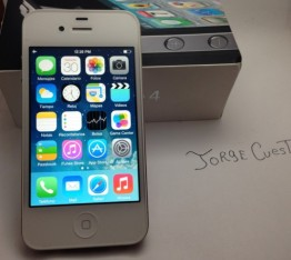 iphone 4 8gb blanco impecable factory unlocked